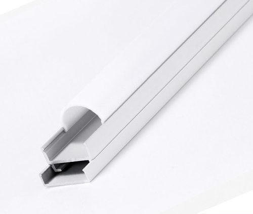 Perfil para LED de aluminio Semicircular