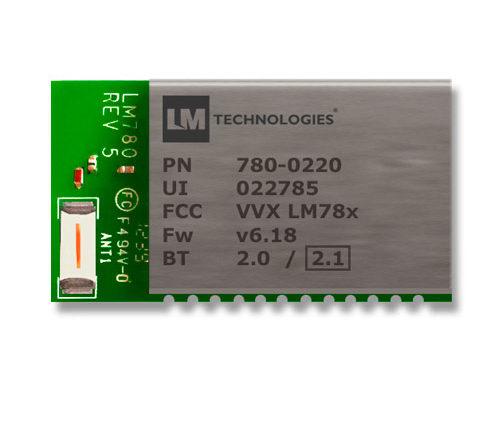 Módulo Bluetooth 2.1+EDR, clase 2, con antena integrada – LM780